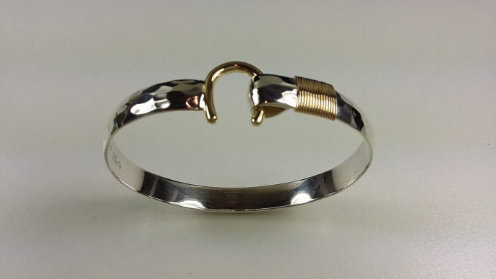 10mm Silver Gold Hook Bracelet
